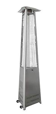 Hanover HANHT104SS Heater-42,000 BTU Efficient Power, Propane Outdoor 7 ft Modern Pyramid Patio Heater, Stainless Steel