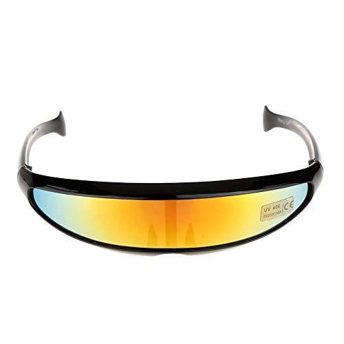 Kühle Outdoor-Brille Sonnenbrille Stil Unisex Fischschwanz Sandsturm Fahrrad Mountainbike Reiten Brille Outdoor Fischschwanz Uni-Objektiv Sonnenbrille Reiten Radfahren Brille Brillen UV-Schutz