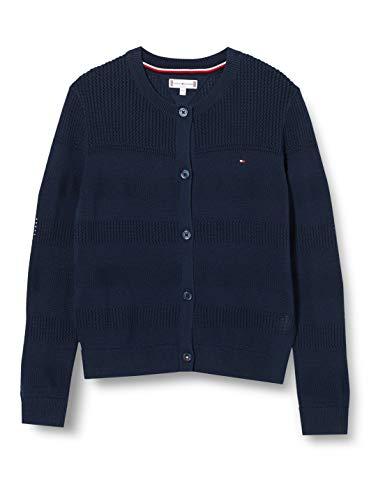 Tommy Hilfiger Mädchen Essential Cardigan Strickjacke, Blau (Twilight Navy C87), One Size...