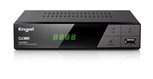 Receptor DVB-TD (TDT2) HD Grabador, HDMI,Función Timeshift, PVR,HEVC -Engel RT7130