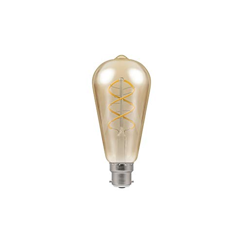 Crompton Led-lampen antiek-brons spiraal filament, B22d, 6 Watt