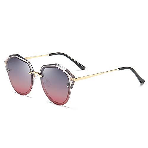 DKEE Gafas de Sol Nueva Personalidad Gafas De Sol Polarizadas Viajes Al Aire Libre Gafas De Conducción Unisex Protección UV400 Lente De Color Degradado Marco Transparente