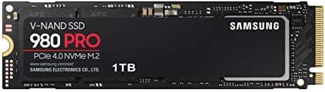 Samsung, 980 PRO Wewnętrzny Dysk SSD PCIe 4.0 NVMe M.2, 1 TB, Czarny