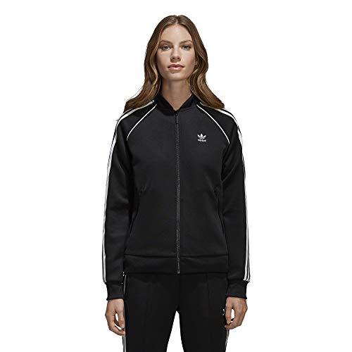 adidas Originals Damen Superstar Tracktop Jacke, schwarz/weiß, X-Groß