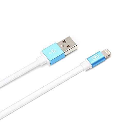 iCharger Lightningコネクタ用 USBフラットケーブル 0.8m ブルー PG-LC08M26BL