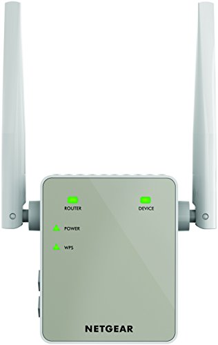 NETGEAR Wifi Range Extender EX6120 - Coverage up to 1200 sq.ft. and 20 devices with AC1200 Dual Band Wireless Signal Booster/Repeater (up to 1200 Mbps) and Compact Wall Plug Design with UK Plug