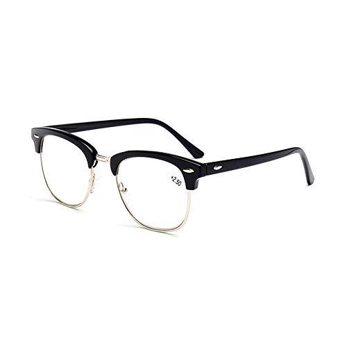 GEMSeven Klassische Ultraleicht Lesebrille Männer Frauen Retro Halbrahmen Presbyopic Brillen Anti Fatigue Brillen