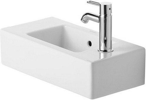 Duravit Handwaschbecken Vero Breite 50cm HL Vost., weiß WonderGliss 7035000001, 7035000001