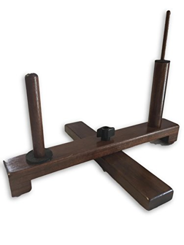 Folding Double Flute Stand Solid Walnut (C Flute-Piccolo (Metal))