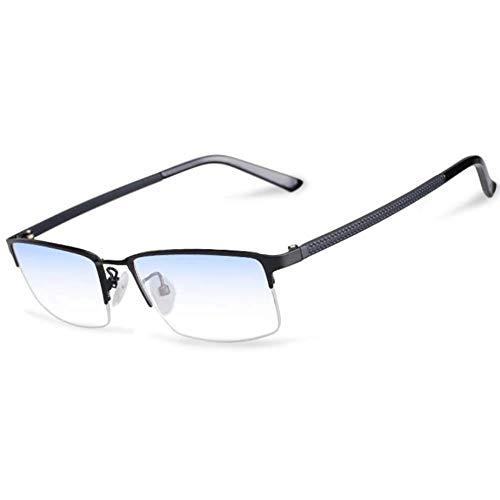Sweet Lesebrille, Halbrahmen-Lesebrille aus Edelstahl UV-Blockierung Beta-Titan-Speichermaterial Brille Beine entlasten den Leser für Augenermüdung