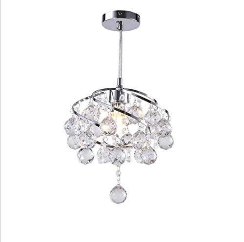 miwaimao Lámpara de araña de cristal, moderna, mini flús, de montaje en candelabro, luces de cromo para salón, comedor, dormitorio, pasillo, escalera, salón, B