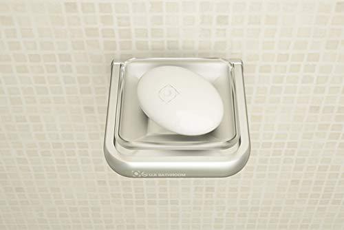Qivor Jabón Bastidor de Aluminio del Espacio de baño Accesorios Jabón de Red