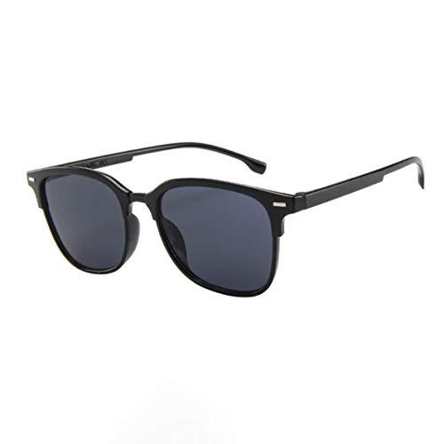 Libartly Hombre Gafas De Sol De Conducción para Hombre Montura Irrompible 100% Protección UV Gafas De Sol Vintage para Hombre - Negro-Gris