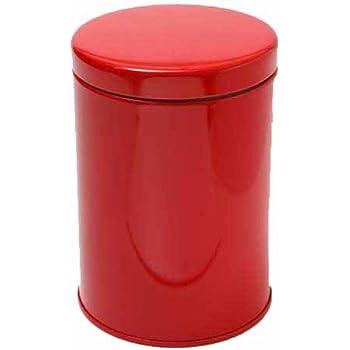 国産 コーヒー&ティー キャニスター【Coffee&Tea canister】200-250g 防湿リング保存缶/レッド