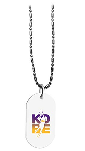 Hat Shark Basketball Sports Athletic Player Custom - 3D Color Printed Military Dog Tag, Luggage Tag Pendant Metal Chain Necklace (Kobe #24)