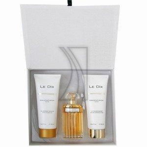 Le Dix By Balenciaga For Women Gift Set. Eau De Toilette Spray 3.33 oz + Gentle Foaming Gel 6.66 oz + Perfumed Softening Lotion 6.66 oz