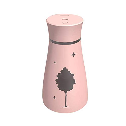 SMEJS Mini USB Humidifier,Small Portable Humidifier for Desk Travel Office Car Bedroom (Color : Pink)