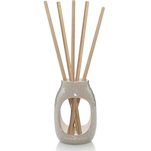Yankee Candle Reed Diffusor, Starter-Set mit Duftstäbchen, Starter-Set, Black Coconut