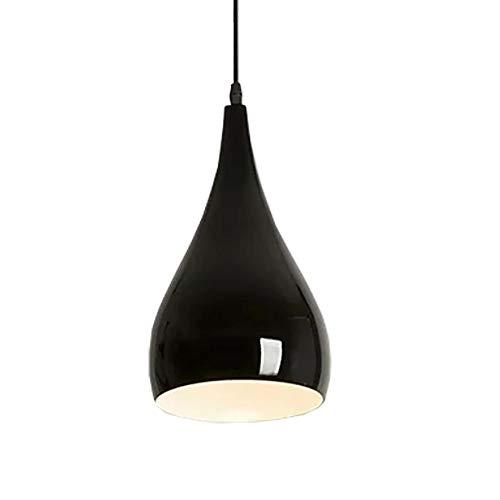 Moderna Iluminación Colgante Lamparas de Techo Vintage Industria E27 Led Lámpara Adecuado para Restaurante, Cocina, Bar, Cafetería, etc, Color Negro