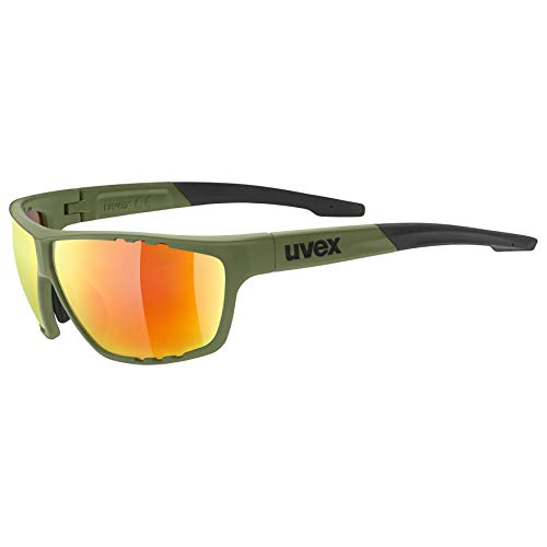 uvex Unisex– Erwachsene, sportstyle 706 Sportbrille, olive, one size