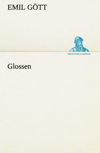 Glossen (TREDITION CLASSICS)