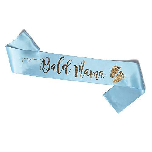 OLILLY Schärpe für Baby Shower in Deutsch - Bald Mama (Blau und Gold)