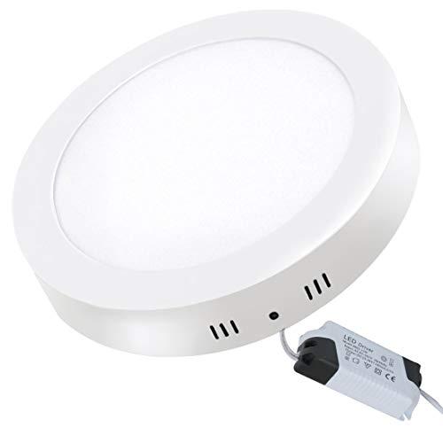 XYD 1PC 18W LED Runde Deckenlampe 1440LM 4000K LED Deckenleuchten für Schlafzimmer Badezimmer Küchen Wohnzimmer Büro Flur