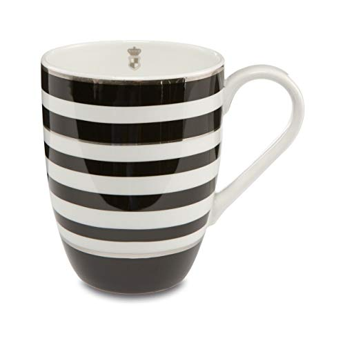 Goebel Stripes Künstlerbecher, Fine Bone China, schwarz-weiß, 12,5 cm x 9 cm x 11 cm