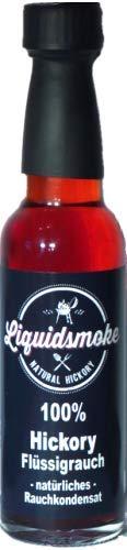 Liquid Smoke® Hickory - Fluessigrauch pur - 100ml Vegan- ohne Zusatzstoffe