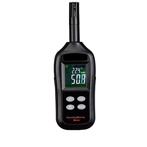 medidor Digital de la temperatura y humedad Mini termoigrometro LCD con punto de rocío y higrómetro A Bulbo Mojado para industria, agricultura