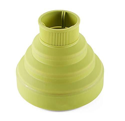 Diffusore in Silicone per Phone Asciuga Capelli con Collo da 4.2 – 4.8 cm Asciugacapelli Richiudibile | Dimensioni in Descrizione per Compatibilità Col Vostro Phone | Colore Selezionabile (Verde)
