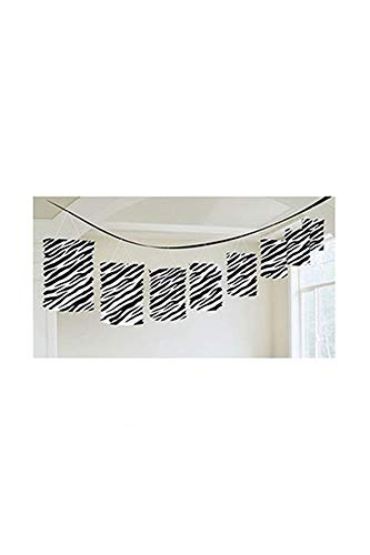 Guirlande de lanterne de décoration papier Zèbre - 3,65