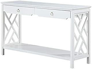 Comfort Pointe Thomas White Chippendale-Style Sofa Table