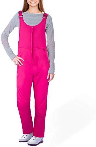 Ohuhu Women s Essential Insulated Snow Bibs Overalls Ladies Ski Bib Pants XL Rose Red product image