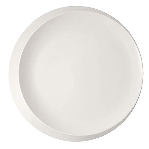 Villeroy & Boch 10-4264-2990 NewMoon Plaque de présentation généreuse en porcelaine Blanc Passe au lave-vaisselle