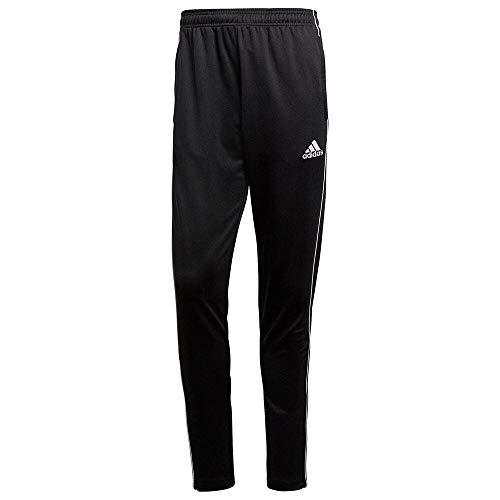 adidas Pantalones deportivos CORE18 TR PNT para hombre, negro (negro / blanco), L