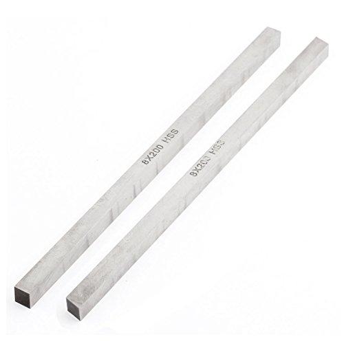 Rechthoekige vorm metaalbewerking snijden reliëfbank HSS gereedschap grijs 8 mm x 8 mm x 200 mm