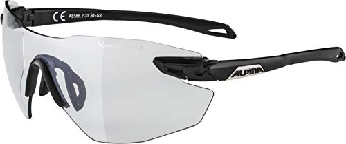 ALPINA TWIST FIVE SHIELD RL VLM+ Sportbrille, Unisex – Erwachsene, black matt, one size