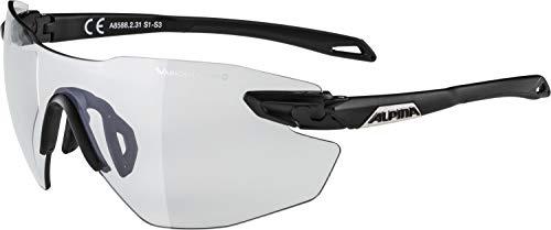 ALPINA TWIST FIVE SHIELD RL VLM+ Sportbrille, Unisex– Erwachsene, black matt, one size