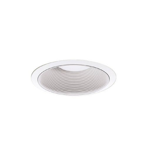 "All-Pro ERT709WHT High Gloss Appliance Trim with White Metal Baffle, Narrow and Wide Trim Ring Included, 6"", White"