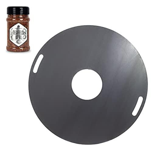 A. Weyck Tools Feuerplatte 100cm 6mm für Feuertonnen Grillplatte Plancha Grillring BBQ - Angebot mit Ankerkraut Teufelskerl #04 + #549
