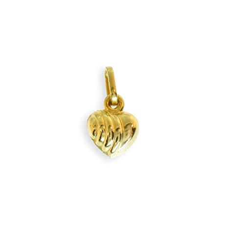Anhänger Herz echt 14 Karat Gold 585 für Kette oder Bettelarmband 7x7mm (Art.202008)