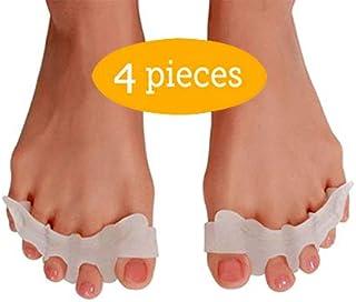 Flexible Toe Spreaders, Hammer Toe Straightener, Soft Toe Stretcher, Silicone Hammer Toe Corrector, Toe Separator for Bunions for Men and Women