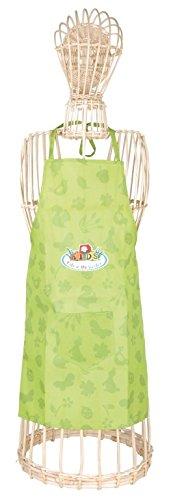 Esschert Design - Grembiule da Giardinaggio per Bambini, Misura Lunga, Dimensioni: Circa 35 x 0,5 x 83 cm, Colore: Verde
