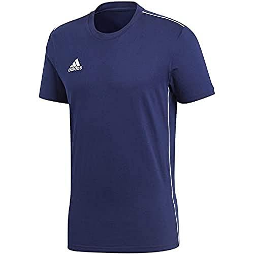 adidas Kinder Core 18 Tee T-Shirt, Dark Blue/White, 176