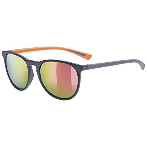 uvex Unisex– Erwachsene, lgl 43 Sonnenbrille, grey mat/orange, one size