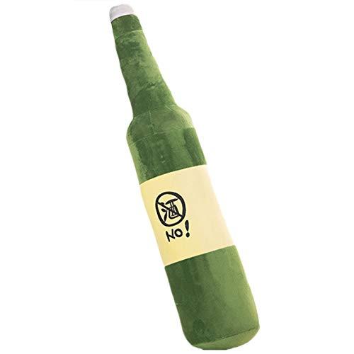 NAttnJf Divertida Forma de Botella de Cerveza Muñeca de Peluche Sin Muestra de Vino Juguete Relleno Sofá Decoración Regalo Verde 50cm