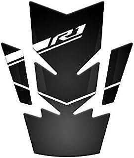 Paire Poign/ées de Guidon 7//8po 22mm Moto pour Yamaha YZF R1 R3 R25 R6 FZ6 R MT03 MT07 MT09 MT10XJ6 N XSR700 XSR900 YBR 125 250 Tmax 500 530 400 V-Max 1200 XT600 XT660//Z//R Noir
