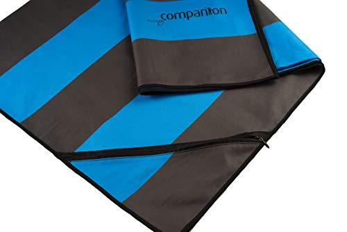 My Companion Mikrofaser Badetuch XXL (BLAU) Strandtuch Microfaser Handtuch 200 cm x 90 cm mit Handytasche