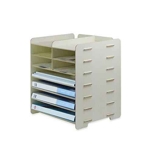 Nfudishpu Aktenschrank Aktenhalter Kreative Aufbewahrungsbox Multifunktions-Bürobedarf Datenverwaltungs-Rack-Datei Produktlieferzyklus Aufbewahrungsbox (Farbe: Ahornfarbe)